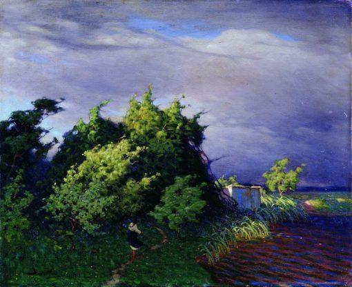 Evening | Viktor Ivanovich Zarubin | Oil Painting