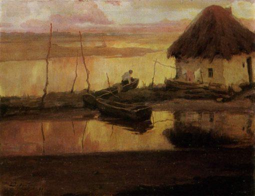 A Quiet Evening | Viktor Ivanovich Zarubin | Oil Painting