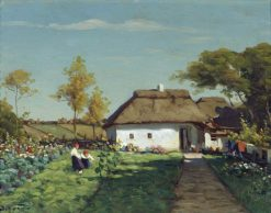 Ukrainian House   Viktor Ivanovich Zarubin   Oil Painting
