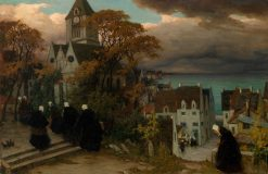 Breton Women on their Way to Mass | Viktor Ivanovich Zarubin | Oil Painting
