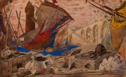 Le Port de Famagouste | Leon Bakst | Oil Painting