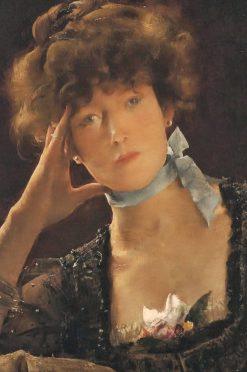 Portrait of Sarah Bernhardt | Alfred Emile Leopold Stevens | Oil Painting