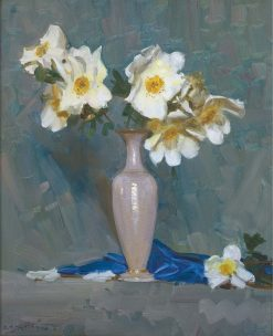 Roses in a Cream Vase | Sir Arthur Streeton | Oil Painting