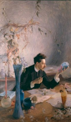 Portrait of Emile Galle | Victor-Emile Prouve | Oil Painting