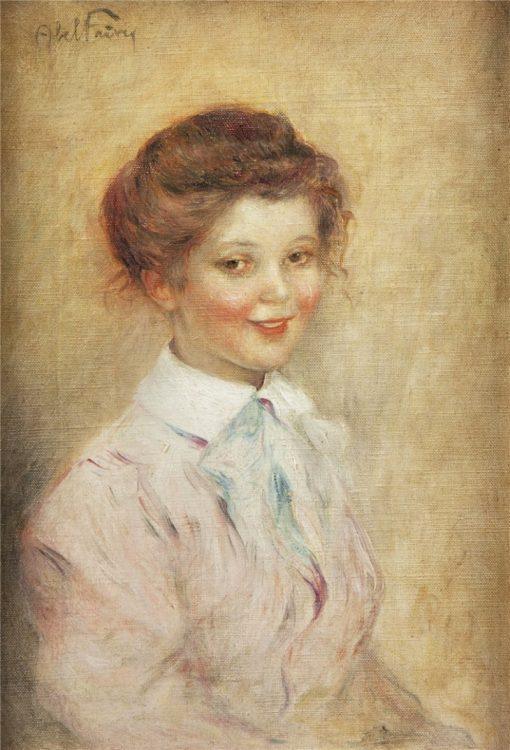 Portrait dune jeune fille | Abel Faivre | Oil Painting