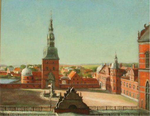 Udsigt fra Frederiksborg Slot over Hillerød | Just Ulrich Jerndorff | Oil Painting