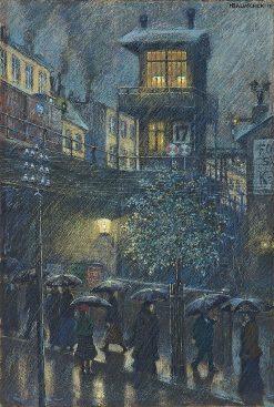 Rain | Hans Baluschek | Oil Painting