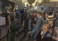 Hasenheide Amusement Park | Hans Baluschek | Oil Painting