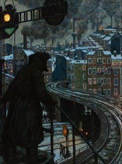 Working-Class City | Hans Baluschek | Oil Painting