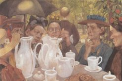 Family Having Coffee | Hans Baluschek | Oil Painting