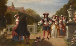 Elegant Company in a Garden | James Digman Wingfield | Oil Painting