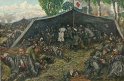 Field Hospital | Hans Baluschek | Oil Painting