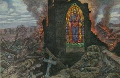 The Church Window | Hans Baluschek | Oil Painting