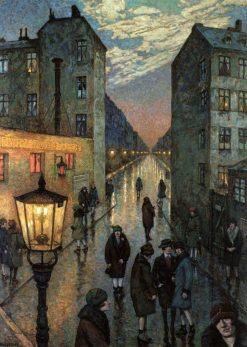 Corner of the Big City | Hans Baluschek | Oil Painting