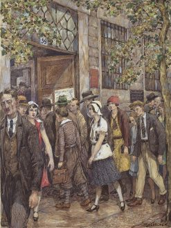 Employment Office | Hans Baluschek | Oil Painting