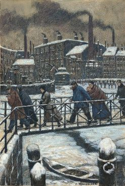 Cold | Hans Baluschek | Oil Painting