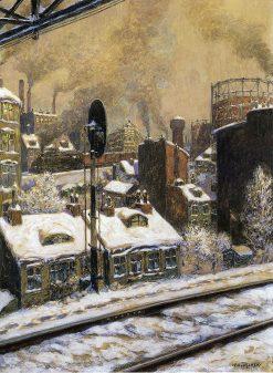 Deep Snow | Hans Baluschek | Oil Painting