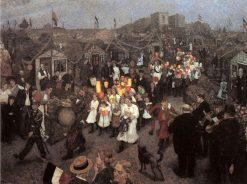 Summer Festival | Hans Baluschek | Oil Painting