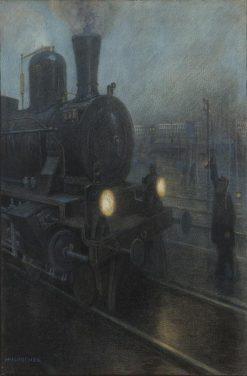 Zyklus Die Eisenbahn / No. 6 | Hans Baluschek | Oil Painting