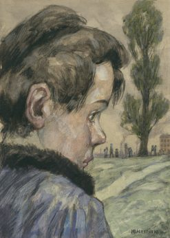 Head of a Child | Hans Baluschek | Oil Painting