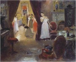 Priest Blessing the Brothel | Vladimir Yegorovich Makovsky | Oil Painting