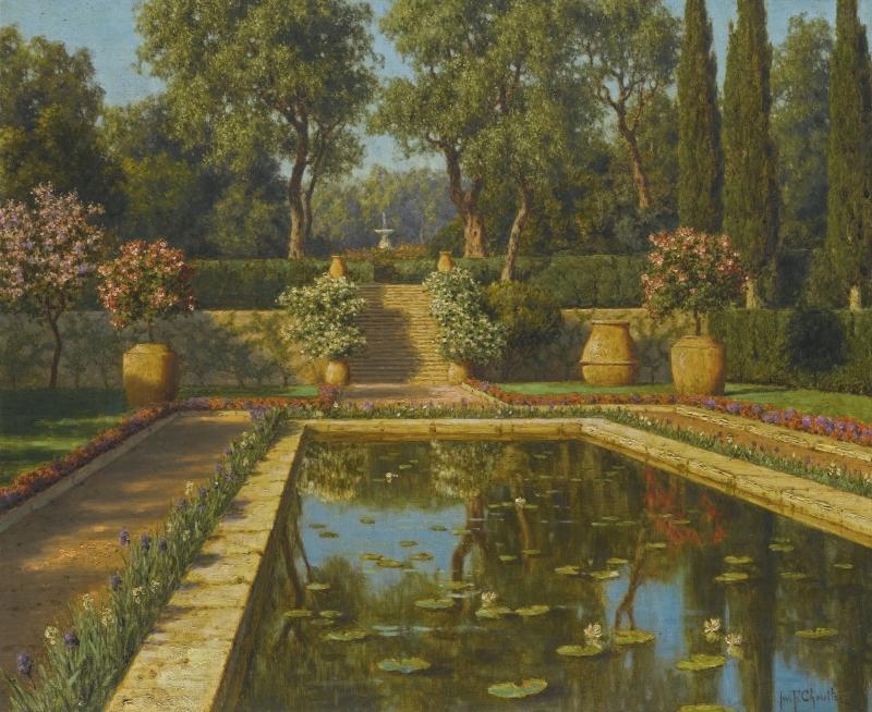 Jardin Fleuri, Nice Painting | Ivan Fedorovich Choultse Oil Paintings