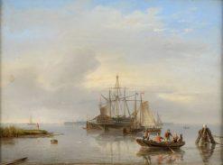Windstille   Nicolaas Riegen   Oil Painting