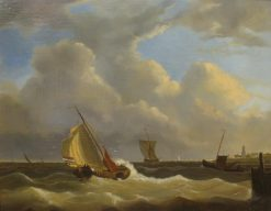 Sailing Home   Nicolaas Riegen   Oil Painting