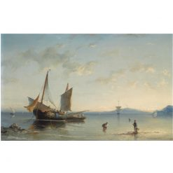 Fishermen in the Bay of Naples | Nicolaas Riegen | Oil Painting