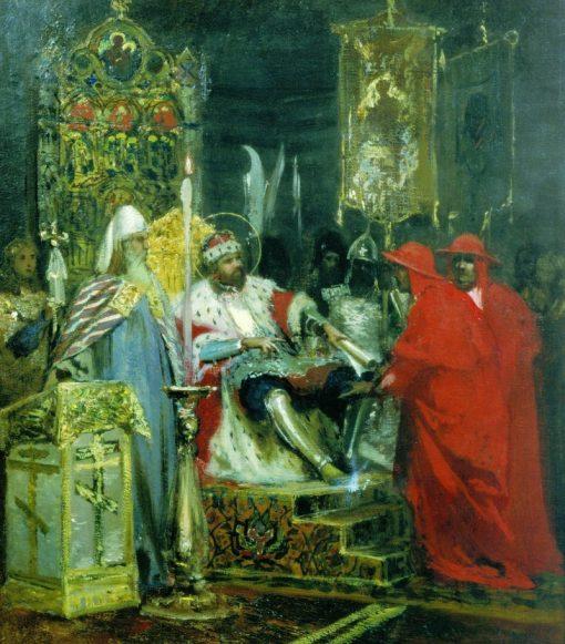 Alexander Nevsky Receives the Papal Legates | Hendryk Siemiradzki | Oil Painting