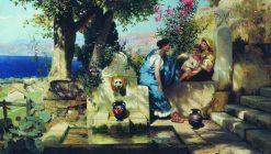 Mischief Maker   Hendryk Siemiradzki   Oil Painting
