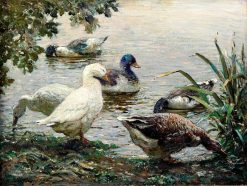 The Duck Pond | Abbott Fuller Graves | Oil Painting