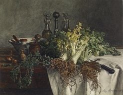 Still Life on Kitchen Table with Celery