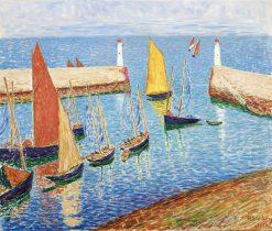 The Harbor | Hugo Simberg | Oil Painting