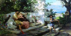 The Dangerous Lesson | Hendryk Siemiradzki | Oil Painting