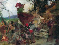 Funeral of a Nobleman (study) | Hendryk Siemiradzki | Oil Painting