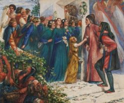 Beatrice meeting Dante at a marriage feast