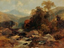 In the Welch Hills   James Duffield Harding   Oil Painting