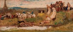 A Country Wedding   Georges Heming Mason   Oil Painting