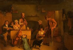 Cottage Interior | Georges Heming Mason | Oil Painting