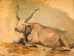Roman Ox (Lying down) | Georges Heming Mason | Oil Painting
