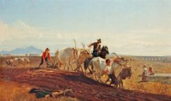 Ploughing in the Campagna | Georges Heming Mason | Oil Painting