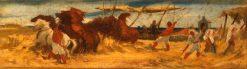Threshing Corn | Georges Heming Mason | Oil Painting
