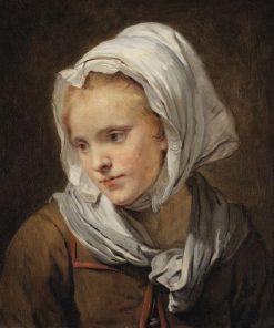 Portrait de jeune femme au fichu blanc | Jean-Baptiste Greuze | Oil Painting