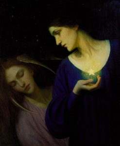 Night and her Daughter Sleep | Mary L. Macomber | Oil Painting