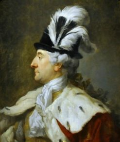 Portrait of Stanislaus Augustus Poniatowski in a feathered hat | Marcello Bacciarelli | Oil Painting