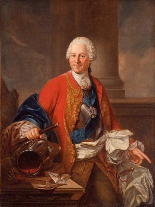 Portrait of Heinrich Graf von Bruhl | Marcello Bacciarelli | Oil Painting