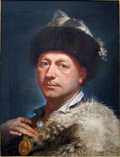 Self-portrait in Cossack robe | Marcello Bacciarelli | Oil Painting