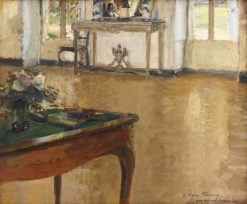 A bureau plat set with flowers   Walter Gay   Oil Painting