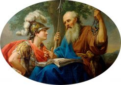 Alcibiades Being Taught by Socrates | Marcello Bacciarelli | Oil Painting